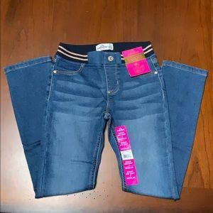 Jordache Girls Rib Waist Skinny Jeans Regular